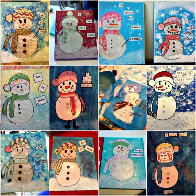 Snowman Collage Collage