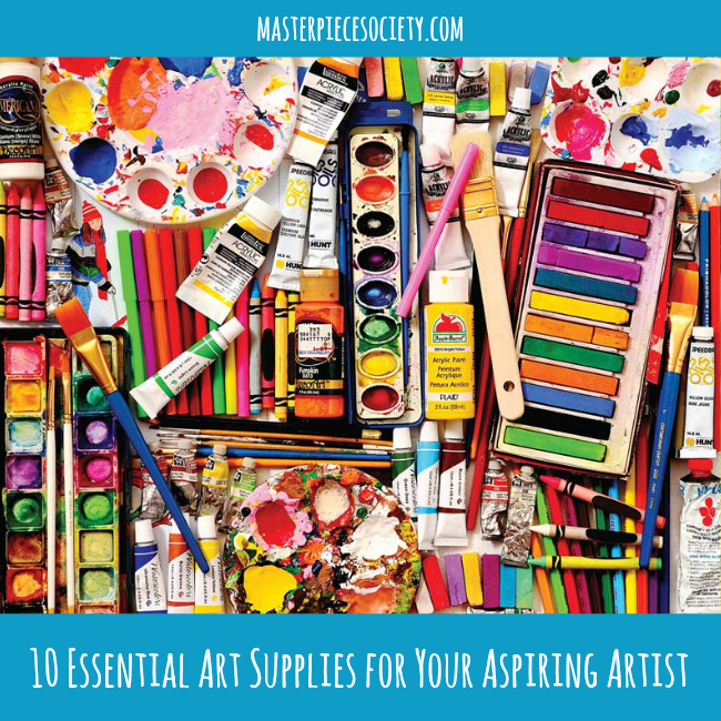 10 Essential Art Supplies for Your Aspiring Artist | masterpiecesociety.com