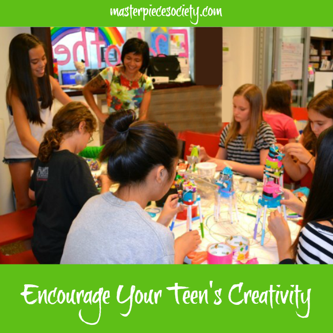 Encourage Your Teen's Creativity | masterpiecesociety.com