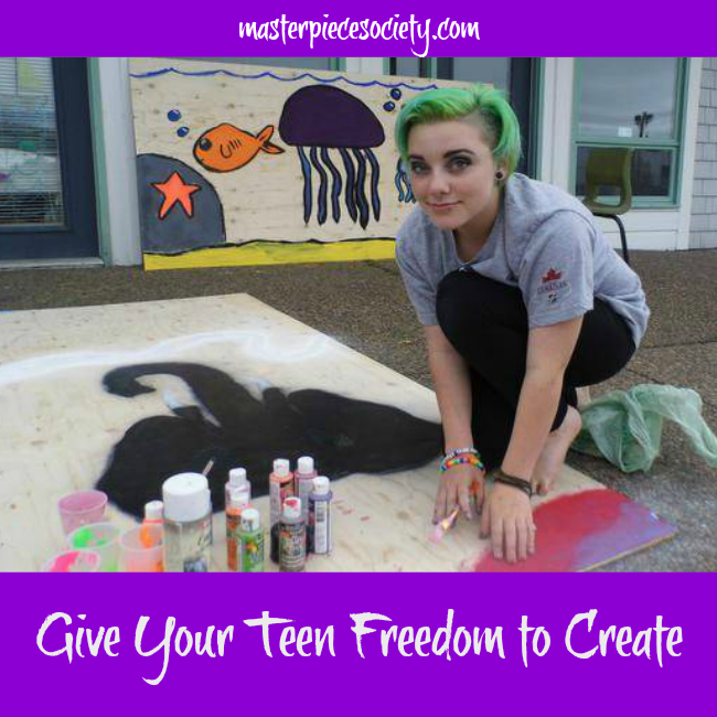 Give Your Teen Freedom to Create | masterpiecesociety.com