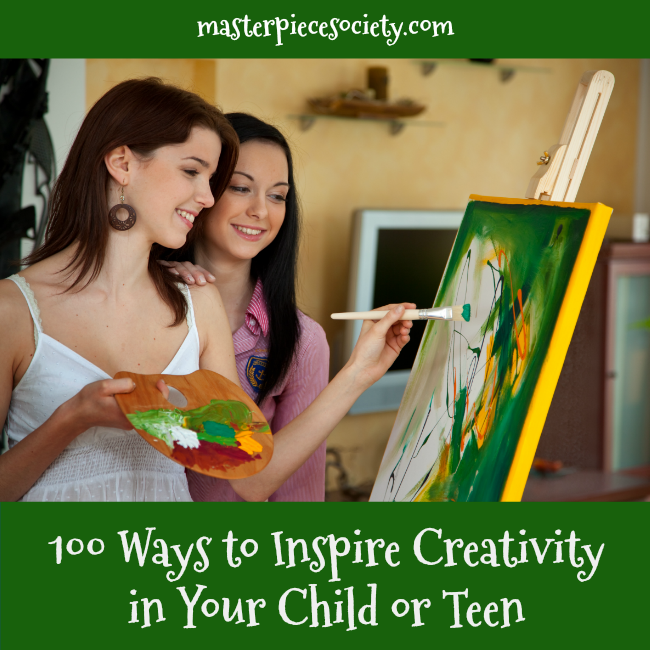 100 Ways to Inspire Creativity | masterpiecesociety.com