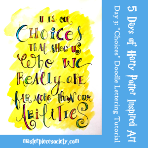 """Choices"" Doodle Lettering Tutorial"